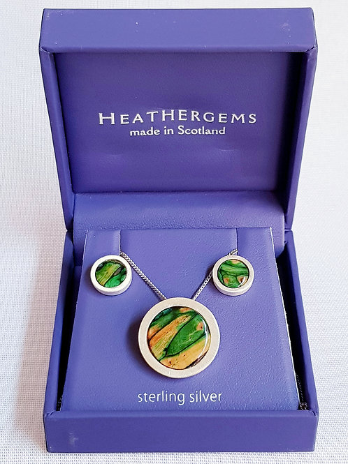 Heathergems Sterling Silver Ness Satin Set