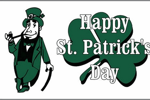 Happy St. Patrick's Day Flag - Size Standard
