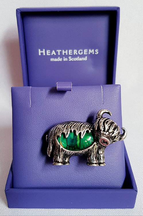 Heathergems Highland Cow Brooch
