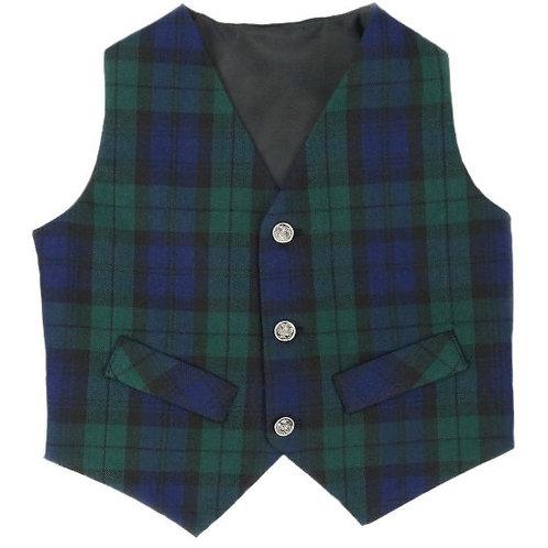 Boy's Black Watch Tartan Waistcoat