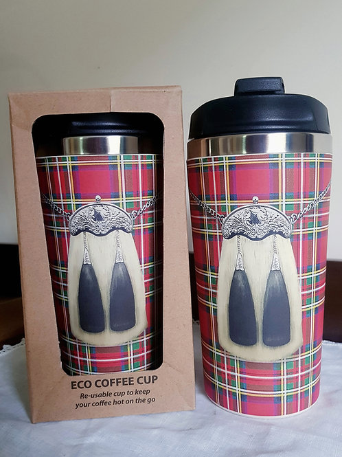 Kilt or Highland Cow Eco Travel Coffee Mug