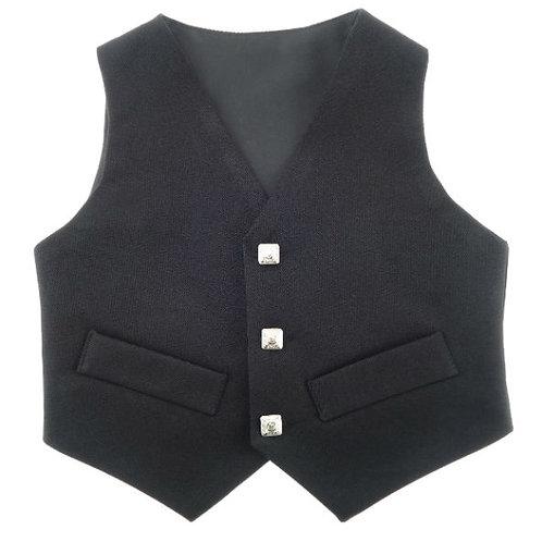Children's Black Waistcoat