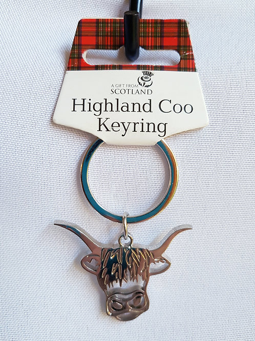 Highland Coo Keyring