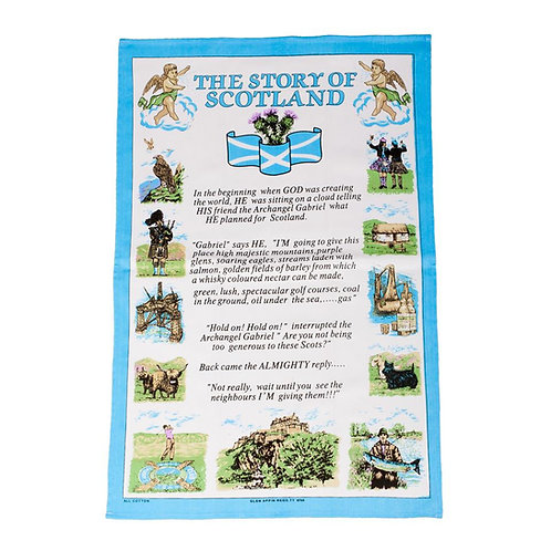 The Story of Scotland Tea Towel