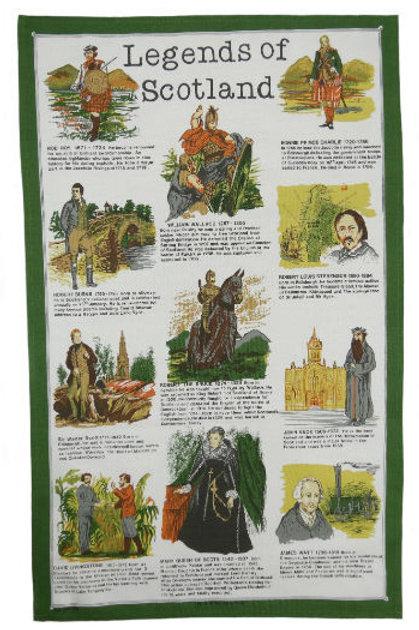 Legends of Scotland Tea Towel