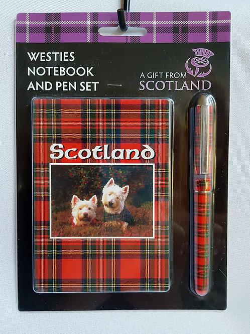 Westies Notebook and Pen Set