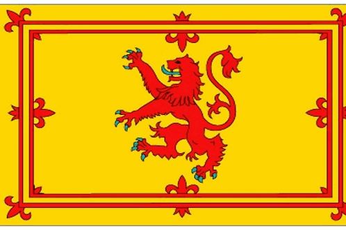 Scotland Lion Rampant Flag - Size Table, Small and Standard