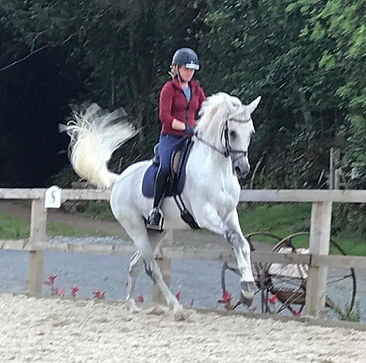 Liz Frayling riding Bink