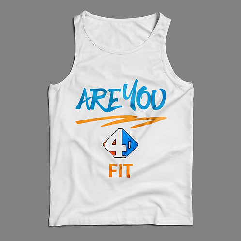 Are You 4D Fit White Tank Top