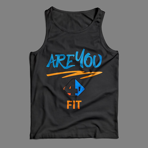 Are You 4D Fit Black Tank Top