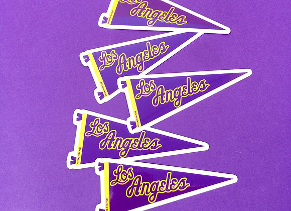 LOS ANGELES Purple & gold, vinyl sticker (5 PACK)