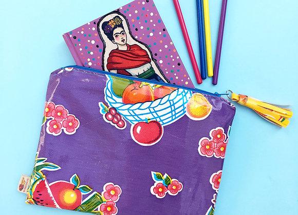 FRUIT Oilcloth clutch bag