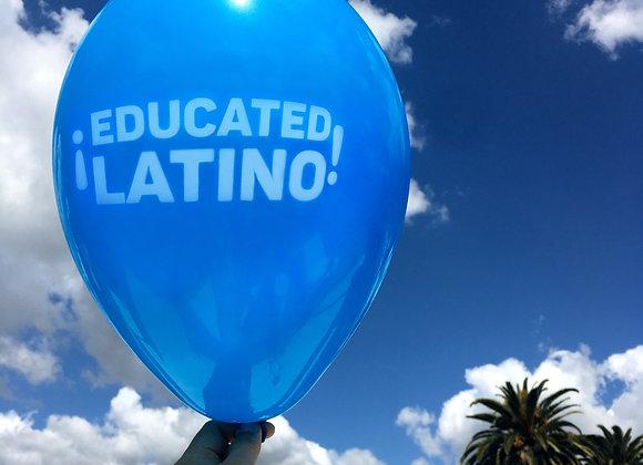 ¡EDUCATED LATINO! Balloons