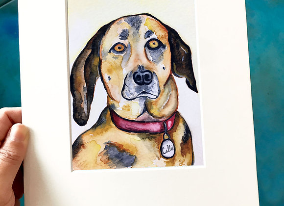 CUSTOM PET Watercolor Portrait