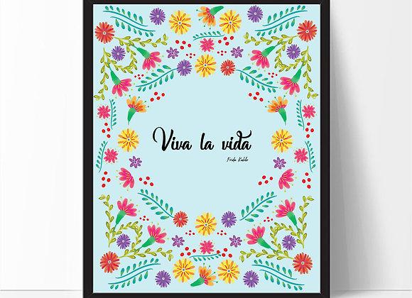 VIVA LA VIDA (on blue)