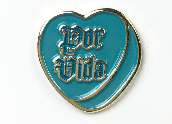 POR VIDA Sweethearts Enamel Pin