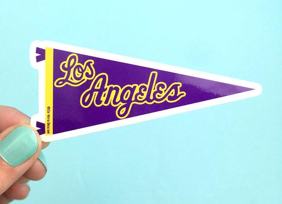 LOS ANGELES Purple & Gold, vinyl sticker (SINGLE)