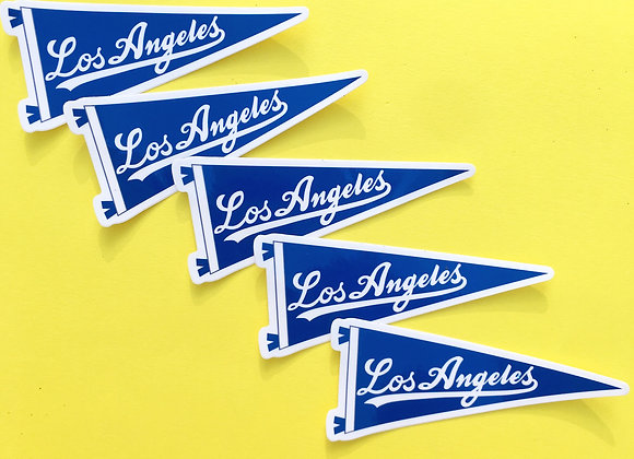 LOS ANGELES, vinyl sticker (5 PACK)