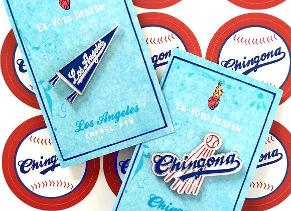 L.A. CHINGONA Enamel Pin Bundle