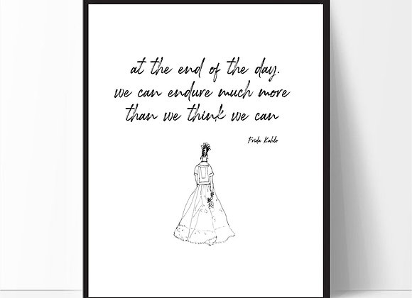 FRIDA - AT THE END OF THE DAY...