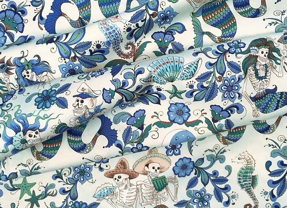 Esqueletos Del Mar Fabric
