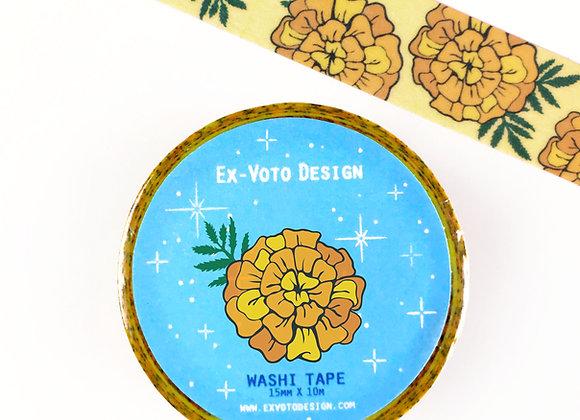 MARIGOLD Flowers, Washi Tape