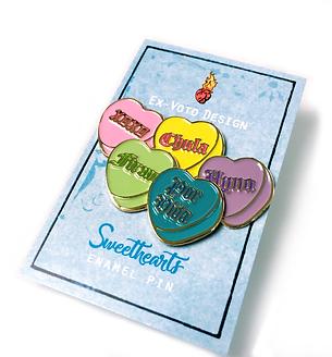 SWEETHEARTS 5 Pack Pin Set