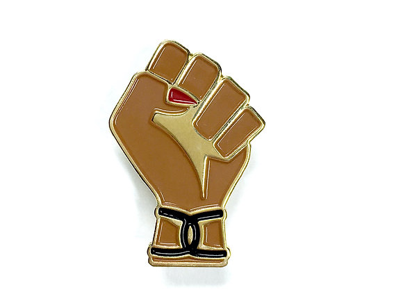 CHICANA POWER Fist Enamel Pin