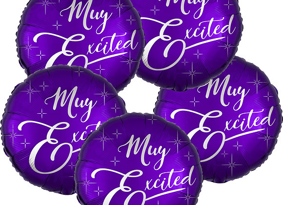 MUY EXCITED Metallic Purple Balloons (5 BUNDLE)
