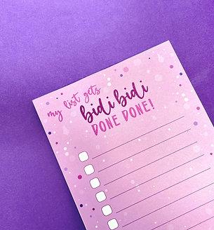 Bidi BIDI Done DONE! Task List