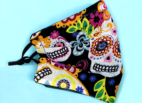 CALAVERA (PLEATED) BANDANA Face Mask
