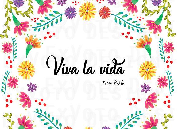 VIVA LA VIDA (on white)