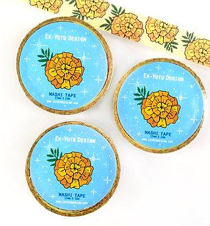 MARIGOLD Flowers, Washi Tape (3 PACK)