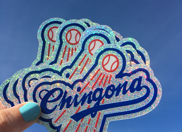 CHINGONA Sparkle vinyl sticker (5 PACK)