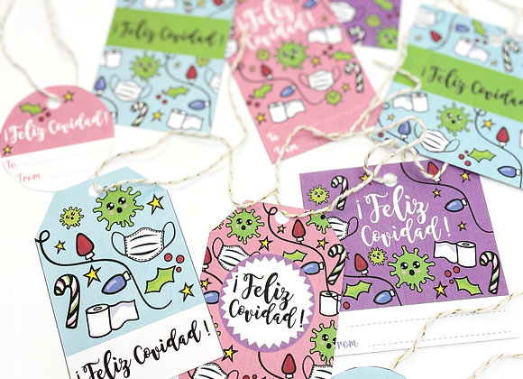 FELIZ COVIDAD (INSTANT DOWNLOAD) Printable Gift Tags