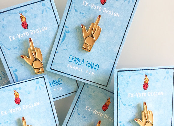 CHOLA HAND Enamel Pin