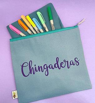 CHINGADERAS Clutch (blue & purple)