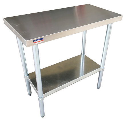 "30 1/2"" x 30 1/2"" x 36 1/2"" Work Table with Stainless Steel Undershelf"