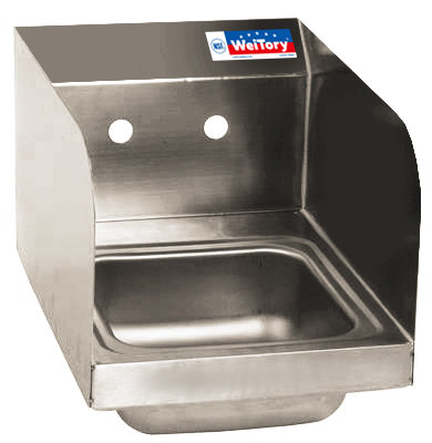 "17"" x 15"" x 12.25"" Wall Mount Hand Sinks with Splash Guard"