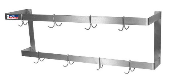 "24"" x 12"" x 12"" Pot Racks, Wall Mounted"
