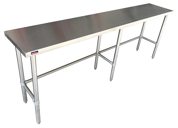 "60'' x 18'' x 36 "" Work Table with Open Base"