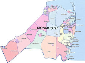 Map of Monmouth County, NJ