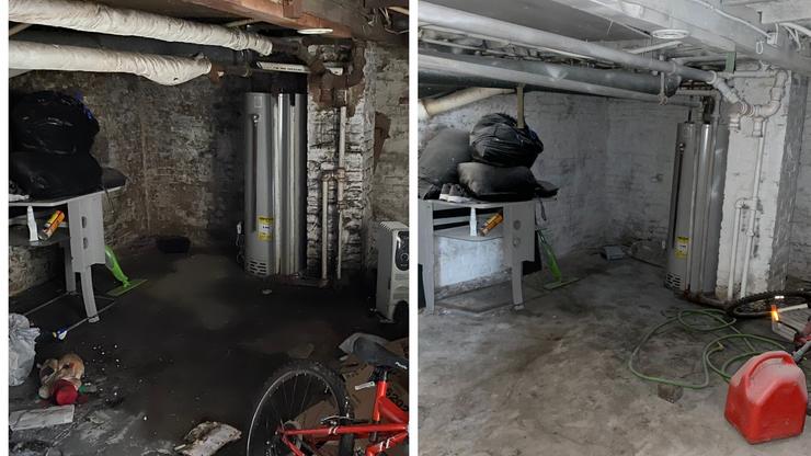 Wet, Damp Basement Gets Mold Treatment