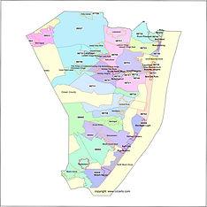 Map of Ocean County, NJ
