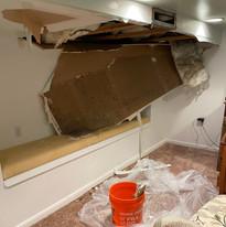 Bathtub Leak Damages Ceiling
