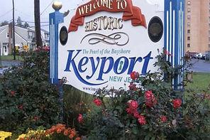 Keyport, NJ welcome sign