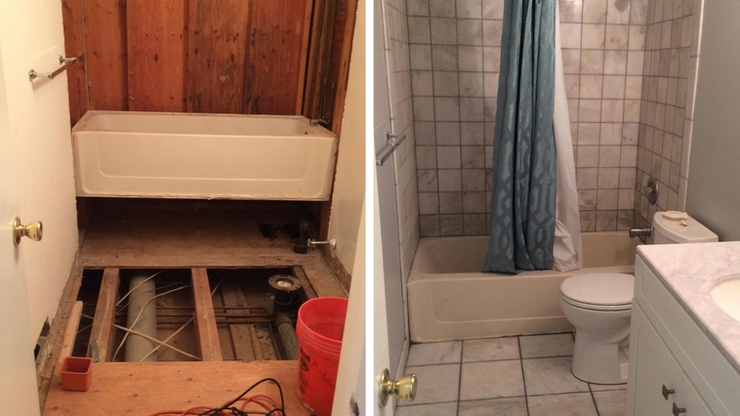 Shower Leak Leads to Bathroom Redo