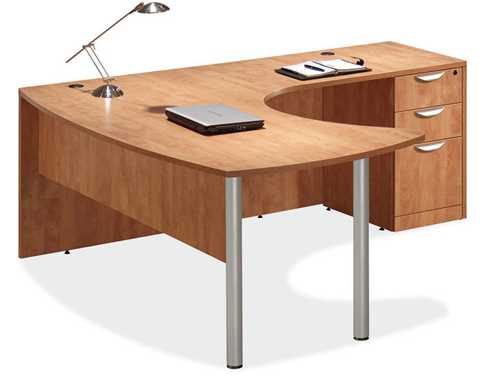 OS Laminate Arc Top/ L Shaped Desk