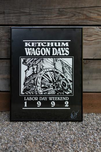 1992 Wagon Days Framed Poster
