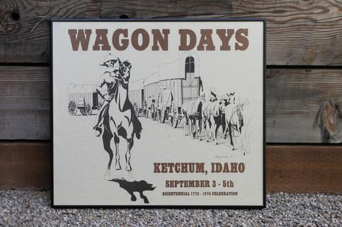 1976 Wagon Days Framed Poster